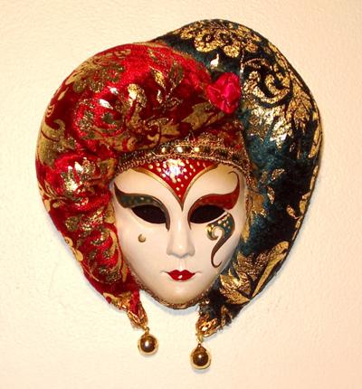 Michaela Red Teal Gift Mask