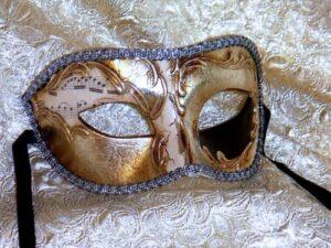 Navy Masquerade Mask