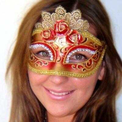 Marie Antoinette Red Mask