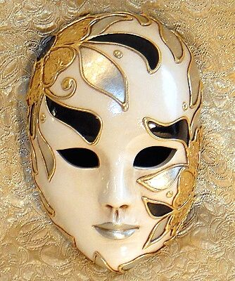 Tropicana Moonlight Large Hand Painted Italian Ceramic Mask