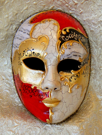 Vivaldi Life Size Face Collectable Venetian Mask for Home Decor