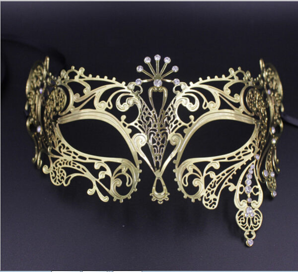 Exotic Gold Plate Masquerade Mask