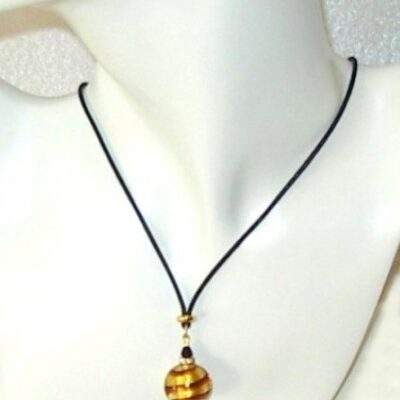 Caramel Ball Murano Necklace