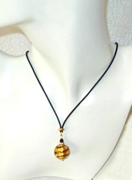 Caramel Ball Murano Necklace