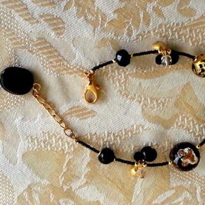 Black Murano Bracelet Forever