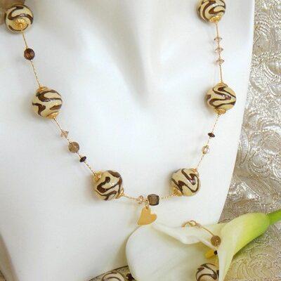 Ivory Murano Jewelry Set