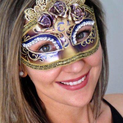 Marie Antoinette Purple Masquerade Mask