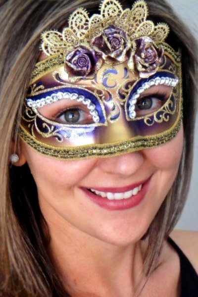 Marie Antoinette Purple Mask
