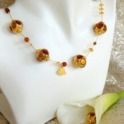 Morocan Lantern Murano Jewelry Set