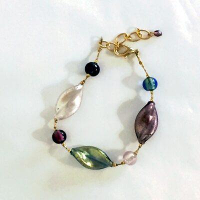 Murano Bead Bracelet Amethyst