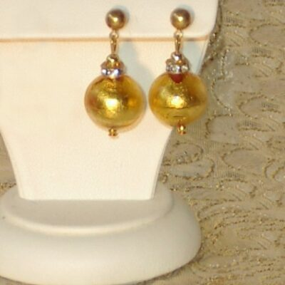 Murano Glass Earrings Classic Gold