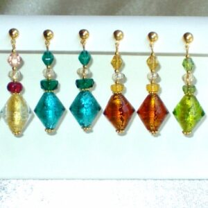 Murano Glass Earrings Dangley