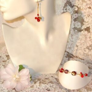 Murano Glass Jewellery Forever Set Red