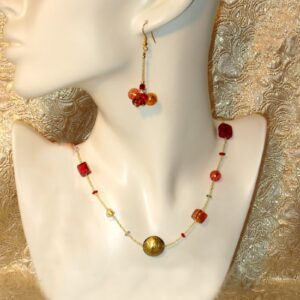 Murano Jewellery Cubit Set Olive