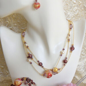 Trio Berry Murano Glass Jewellery Set