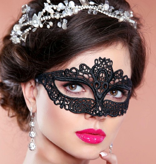 Amelia Black Lace Masquerade Mask