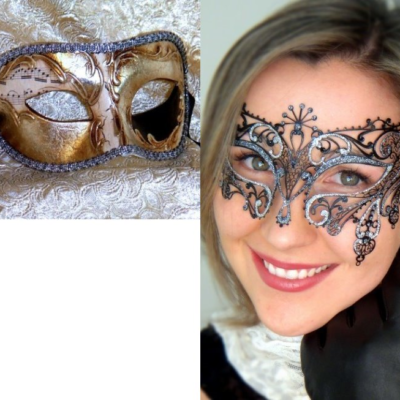 Couples Masks Gatsby