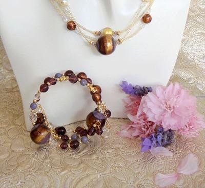 Murano Bracelet Gypsy Twist Plum