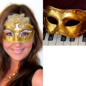 Couples Masquerade Masks Gold