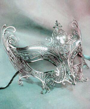 Silver Mask Angel Wings