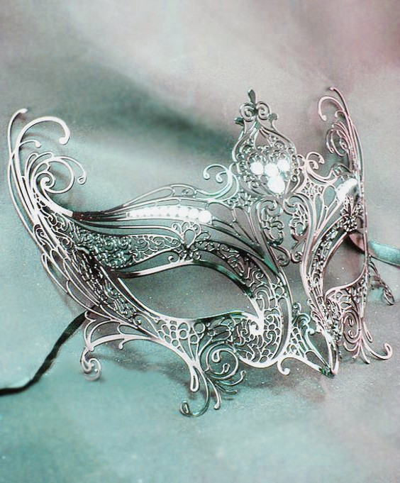 Silver Mask Angel Wings
