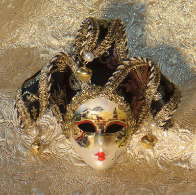 Venezia Jester Mask for Decor