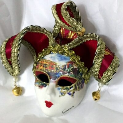 Venezia Red Jester Mini Mask