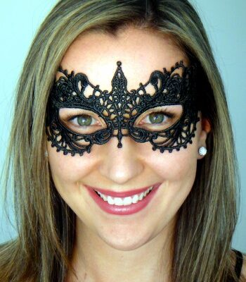 Carmen Black Lace Mask