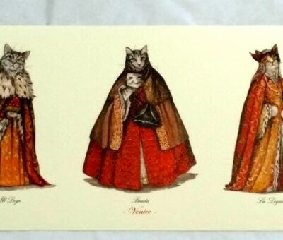 Cat Postcard Trio Bauta