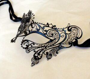 Exotic Black Lace Mask - Italian