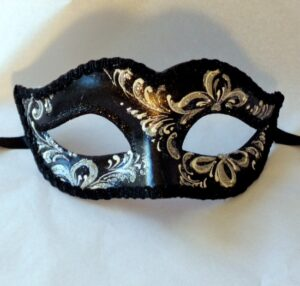 Silver Ladies Mask for Masquerade Ball