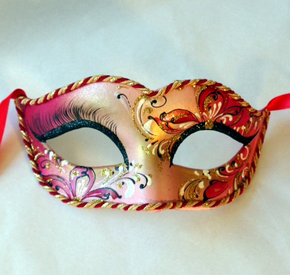 Lily Red Masquerade Mask