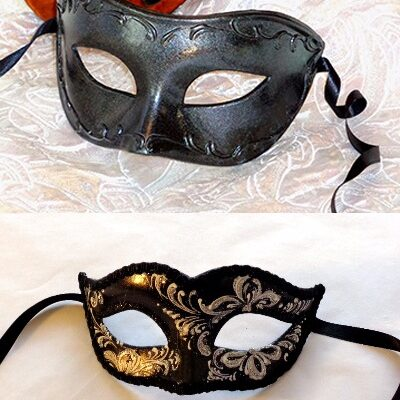 Black His and Hers Masks Eclipse