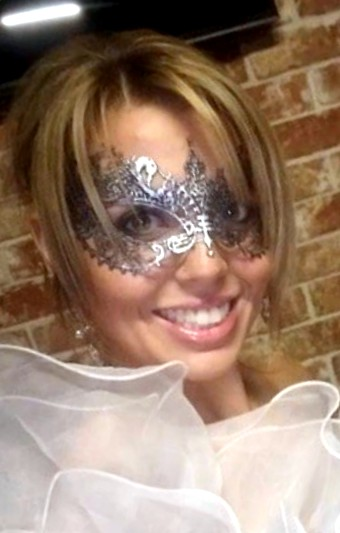 Anastasia Silver Lace Mask