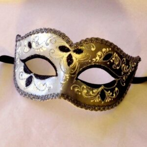 Nikita Silver Masquerade Mask - Italian Made