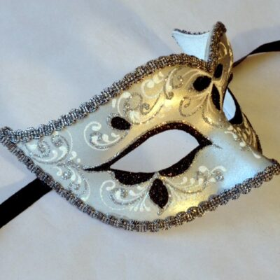 Anika Silver Masquerade Mask - Italian Made