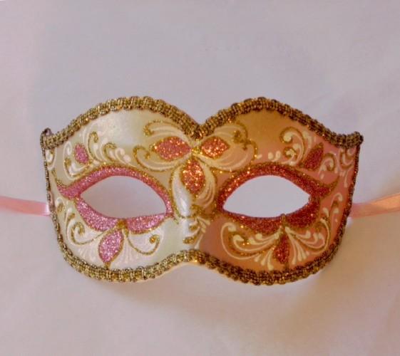 Anika Rose Gold Venetian Mask