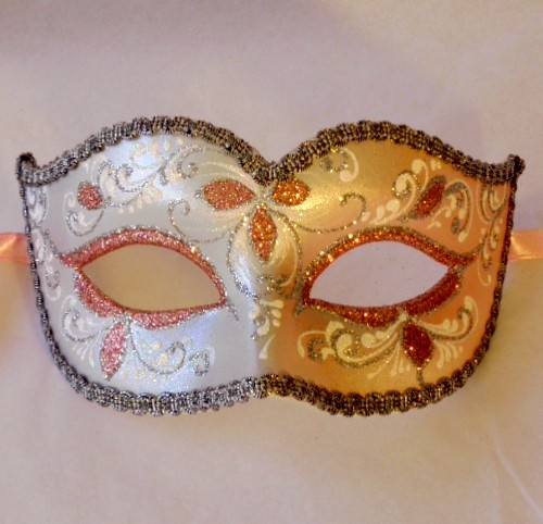 Anika Pink Silver Masquerade Mask