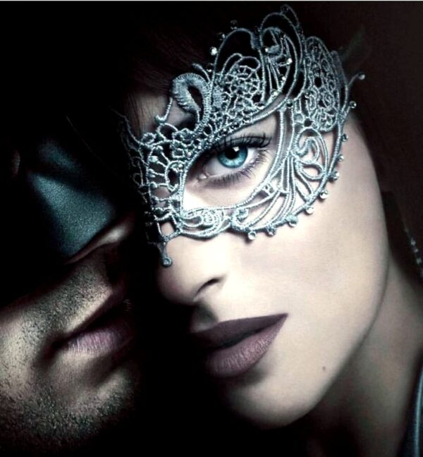 50 Shades Budget Mask - Anastasia with Crystals