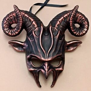 Copper Horny Goat Mask
