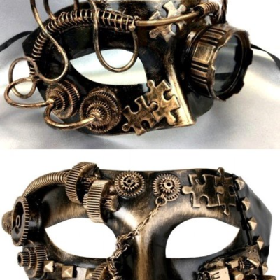 Steampunk Couples Masks