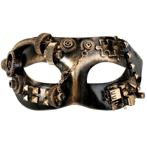Steampunk Mask in Gold
