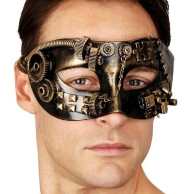 Steampunk Mask for Masquerade - Gold