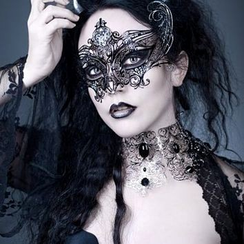 Black Angel Masquerade Mask