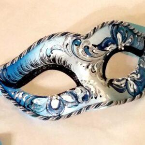 Blue Venetian Ladies Mask