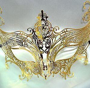 Gold Angel Masquerade Mask