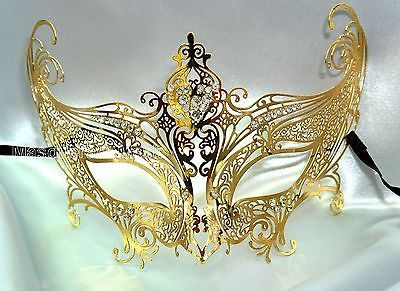 Gold Angel Masquerade Mask