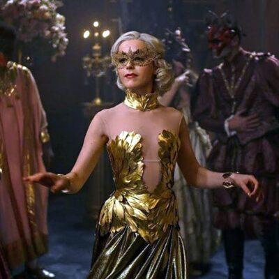 Gold Lace Masquerade Mask