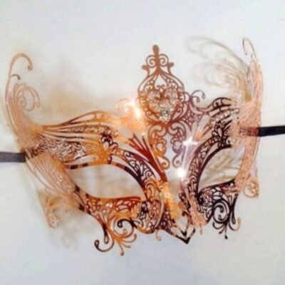 Rose Gold Masquerade Mask