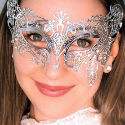 Exotic Silver Masquerade Mask